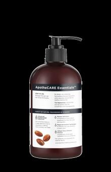 Parte trasera del champú ApotheCARE Essentials™ The Replenisher Shampoo Vanilla Argan Oil Almond Milk 12oz.