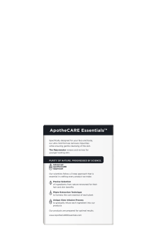 Back of face and body bar ApotheCARE Essentials™ The Rejuvenator Face and Body Bar Coconut Milk White Jasmine B3 4.5oz