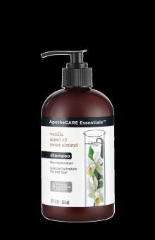 Parte frontal del champú ApotheCARE Essentials™ The Replenisher Shampoo Vanilla Argan Oil Almond Milk 12oz