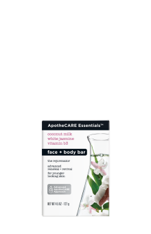 Front of face and body bar ApotheCARE Essentials™ The Rejuvenator Face and Body Bar Coconut Milk White Jasmine B3 4.5oz